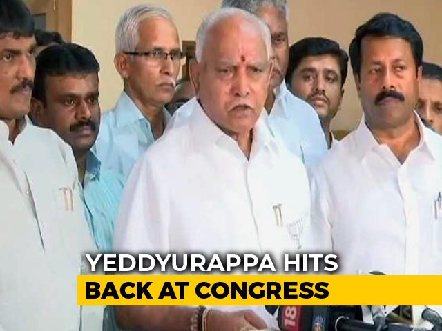 BS Yeddyurappa, Accused Of Rs. 1,800 Crore Payoffs, Hits Out At Congress