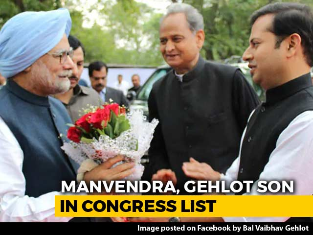 Video : In Congress's Latest List, Ashok Gehlot And Jaswant Singh's Sons