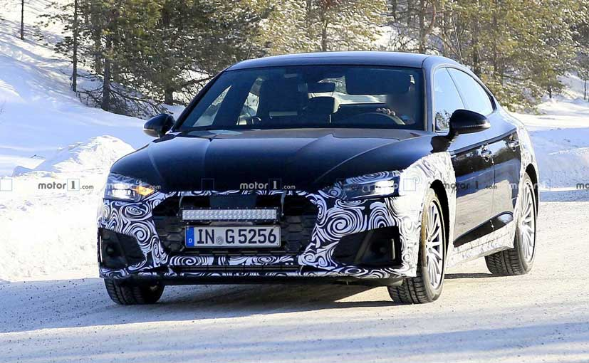 The 2020 Audi A5 Sportback has been spotted partially camouflaged.