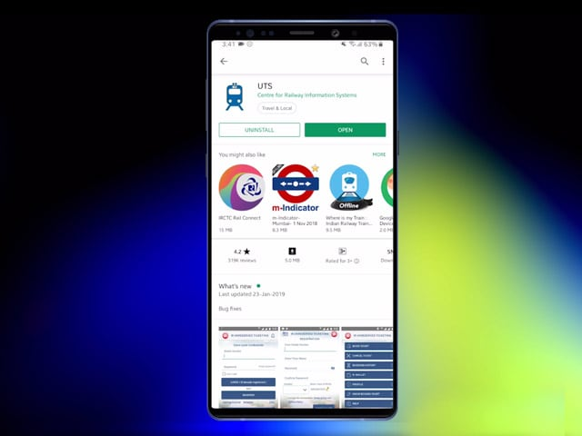 Video : How To Book Local Train Tickets Via UTS App