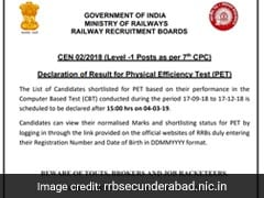 RRB Group D Result: How To Check Ajmer, Mumbai, Bhopal, Gorakhpur, Chennai Results