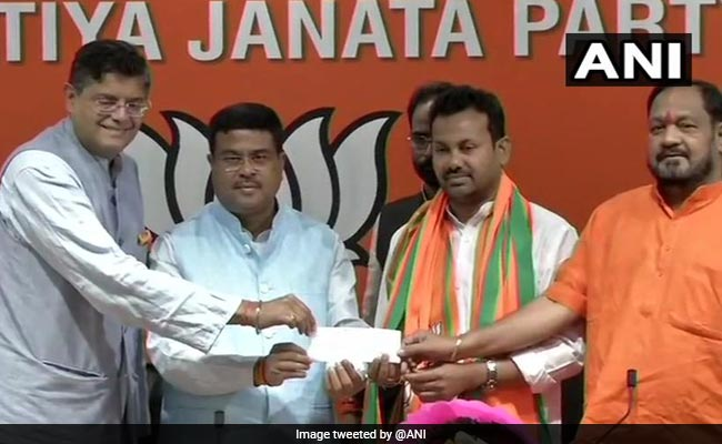 Odisha Congress Lawmaker Prakash Chandra Behera Joins BJP