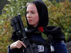 Cop, Wearing Scarf, Keeps Guard As New Zealand Shows Support For Muslims