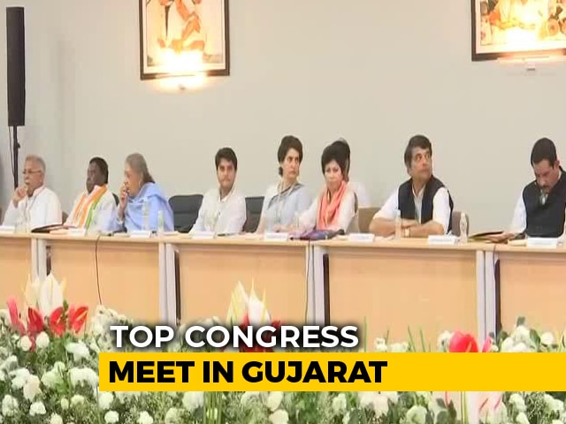 Video : Congress Meets In PM Modi's Gujarat; Priyanka Gandhi's Debut Speech
