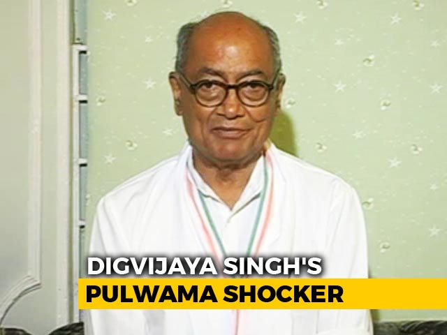 """Video : Controversy Over Digvijaya Singh's Pulwama """"Accident"""" Tweet"""