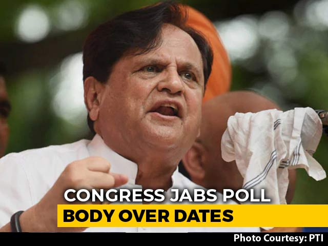 "Video : ""Waiting For PM's Programmes To End?"" Congress Jabs Poll Body Over Dates"