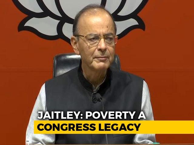 "Video : ""Bluff Announcement"": Arun Jaitley Shreds Congress Minimum Income Plan"