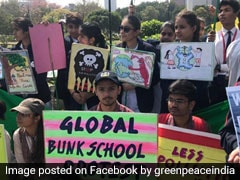 In Pics: Students In Delhi NCR Join 'Fridays For Future' Climate Change Protest