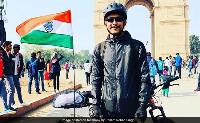 Manipur Cyclist On Tour To Raise Funds For Soldiers Killed In Pulwama