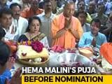 Video : Hema Malini, Yogi Adityanath Pray In Mathura Before She Files Nomination