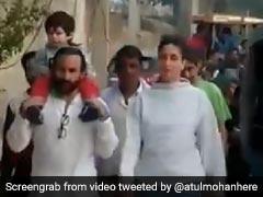 तैमूर अली खान को कंधे पर बिठाकर सैफ-करीना ने दिखाया पटौदी गांव, तभी हुआ कुछ ऐसा... देखें Video