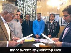 Farooq Abdullah Files Nomination Papers For Srinagar Lok Sabha Seat