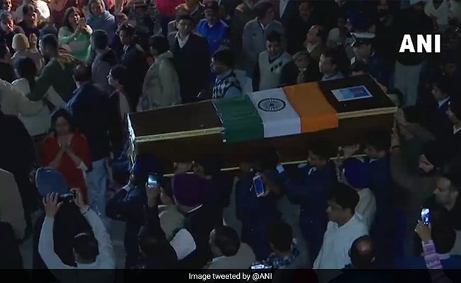 Funeral Held For IAF Officer Who Died In Jammu And Kashmir Chopper Crash
