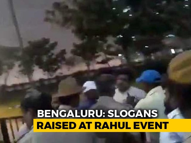 "Video : ""Techies"" Arrested For Pro-PM Slogans At Rahul Gandhi Event, Alleges BJP"