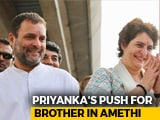 Video : In Priyanka Gandhi's Latest UP Visit, A Push For Brother Rahul Gandhi