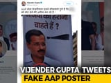 Video : BJP Legislator Tweets Photoshopped AAP Poster