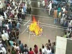 Furniture Set On Fire At YSR Congress Office After Lawmaker Denied Ticket