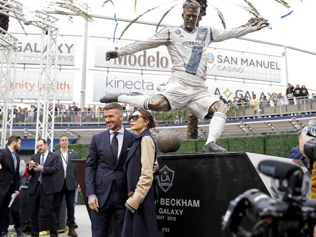 La Galaxy Honour David Beckham On MLS Opening Day