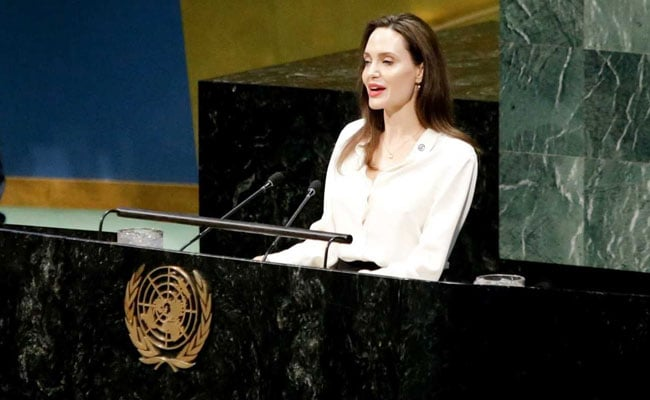 Angelina Jolie At UN Calls For Inclusion Of Women In Afghan Peace Talks