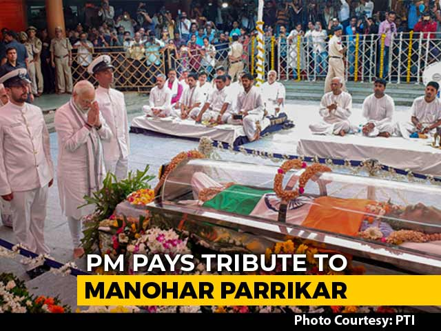Video : State Funeral For Goa Chief Minister Manohar Parrikar, PM Pays Respects