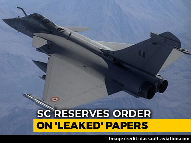 "Video : On Rafale Papers Secrecy Claims, Supreme Court Cites Post-RTI ""Revolution"""