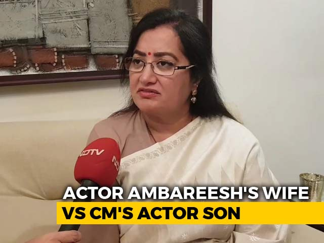 Video : Mandya Set For Cinematic Clash As Ambareesh's Wife Announces Candidature