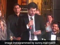 सनी देओल के बेटे करन देओल ने दोस्त की शादी में पढ़ी कविता, वायरल हुआ Video