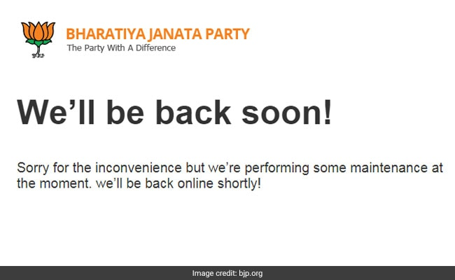 BJP Website Down For 4 Days, Expert Says 'Seems Even The Backup Is Gone'