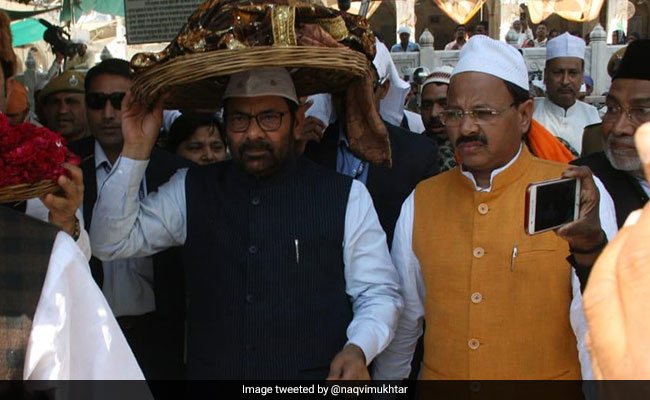 Minister MA Naqvi Offers 'Chadar' At Ajmer Shrine On Behalf Of PM Modi