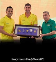 MS Dhoni, Suresh Raina, Stephen Fleming Felicitated By CSK