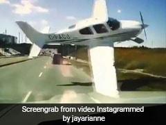 Dashcam Footage Shows Plane Narrowly Miss Traffic Before Crash