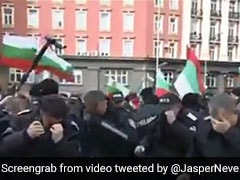 Watch: Bulgarian Police Pepper Spray Themselves Instead Of Protestors
