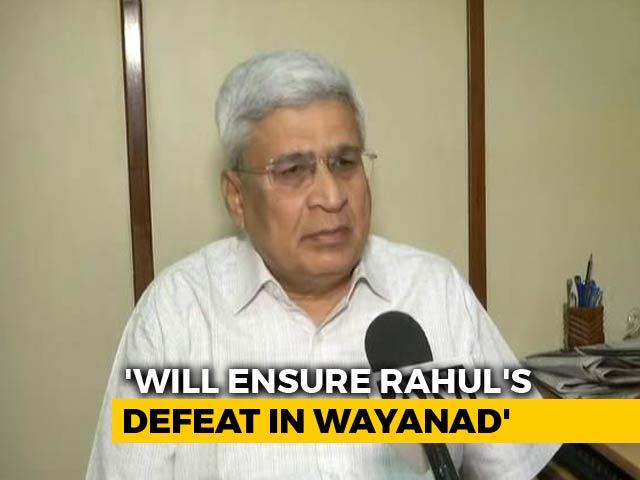"""Video : """"Will Work To Defeat Rahul Gandhi"""" In Wayanad, Says CPM's Prakash Karat"""