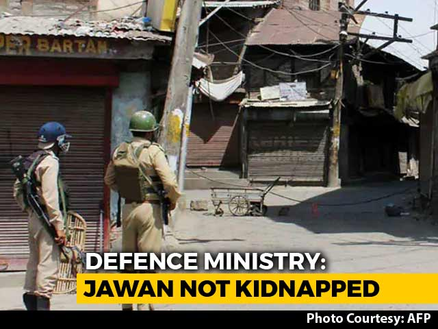 "Video : ""Army Soldier Safe"": Government Denies Report Jawan Kidnapped In J&K"