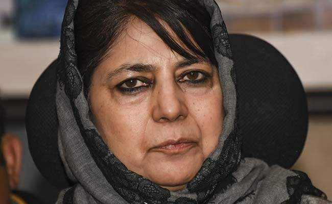 """""""Ironic,"""" Tweets Mehbooba Mufti On Cheers For PM Modi's Article 370 Remark"""