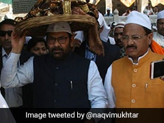 "Minister MA Naqvi Offers <i>""Chadar""</i> At Ajmer Shrine On Behalf Of PM Modi"