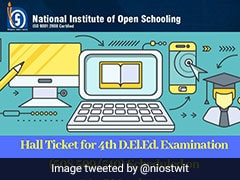 NIOS DElEd Hall Ticket For March Exam Released; Direct Link Here