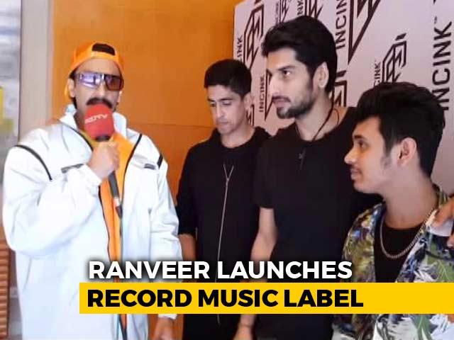 Ranveer Singh On His Record Music Label INCINK