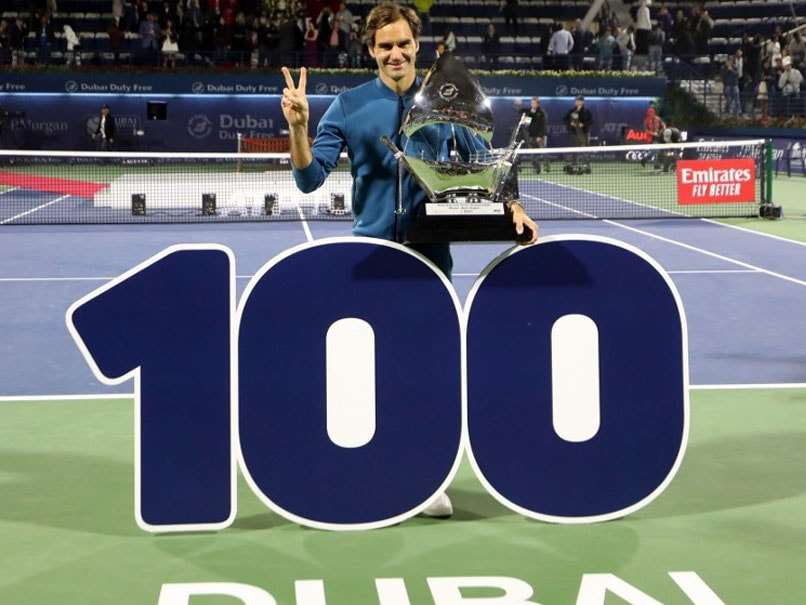 Roger Federer Beat Stefanos Tsitsipas At The Dubai Championships On Saturday To Win The 100th Title Of His Career