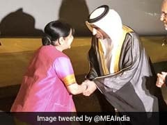 Sushma Swaraj Arrives In Abu Dhabi To Attend Islamic Nations' Conclave