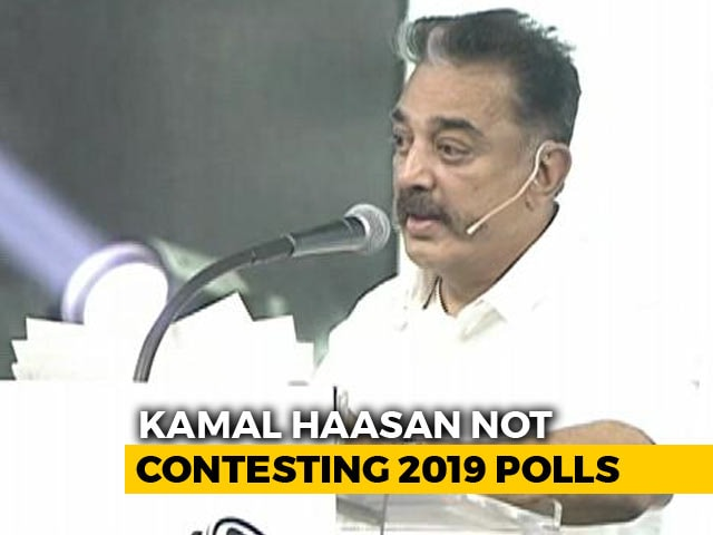 Not Contesting Lok Sabha Polls, 'All Candidates My Faces': Kamal Haasan