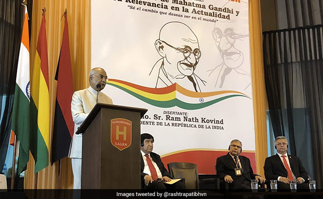 Mahatma Gandhi Predicted 'Pressing Challenges' Of 21st Century: President