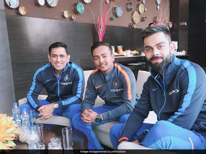 MS Dhoni, Virat Kohli Pose For Picture With Prithvi Shaw. Fans Love The Caption