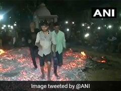 Watch: People In Gujarat Village Walk Barefoot On Fire To Celebrate Holi