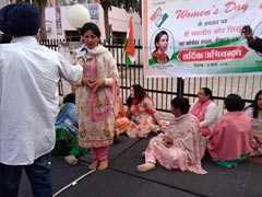 Amid Chandigarh Ticket Tussle, Protest By Congress Workers On Women's Day