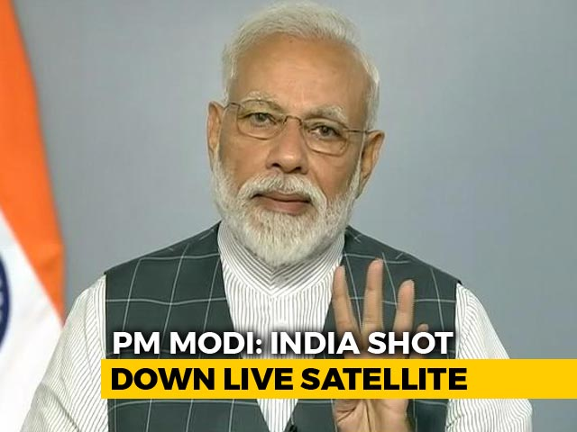 Video : India Shot Down Low-Orbit Satellite, A Space Power Now: PM Modi