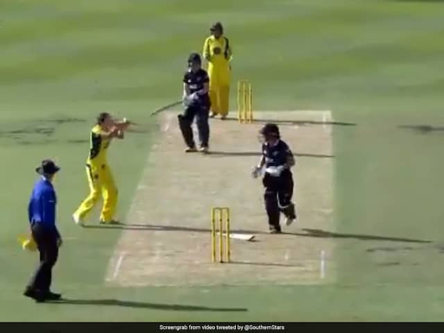New Zealand Batswoman Dismissed In One Of The Unluckiest Ways Possible