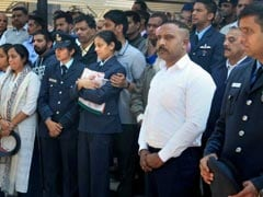 Wife Of Chopper Pilot Killed In Budgam Crash Stands Strong At Cremation