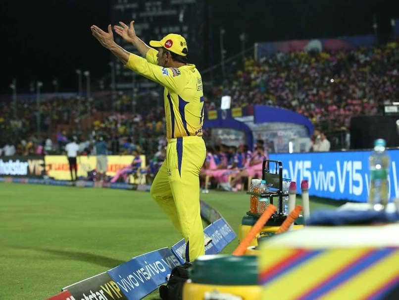 MS Dhoni Fined For Charging Onto The Field During RR vs CSK IPL 2019 Match