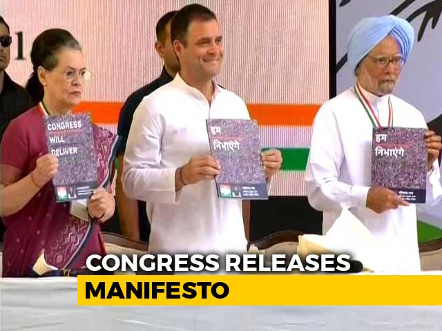 "Video : Congress Manifesto Reflects ""Voice Of The People"", Says Rahul Gandhi"